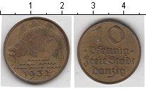 Изображение Монеты Данциг 10 пфеннигов 1932   Рыбка