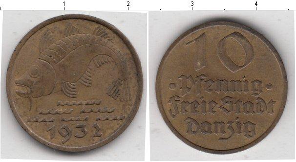 Картинка Монеты Данциг 10 пфеннигов  1932