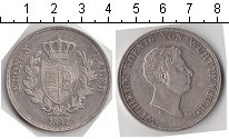 Изображение Монеты Вюртемберг 1 талер 1832 Серебро XF Король Вильгельм I