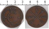 Изображение Монеты Швеция 1/2 скиллинга 1828 Медь  Карл XIV