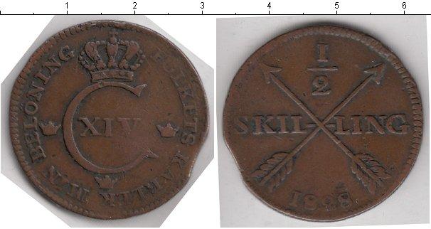Картинка Монеты Швеция 1/2 скиллинга Медь 1828