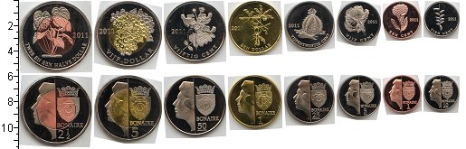 Изображение Наборы монет Бонайре Бонайре 2011 2011  UNC- В наборе 8 монет ном