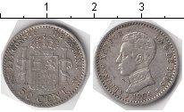 Изображение Мелочь Испания 50 сентим 1904 Серебро