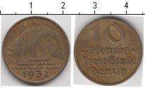 Изображение Монеты Данциг 10 пфеннигов 1932 Медь VF треска