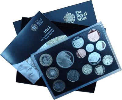 Изображение Подарочные монеты Великобритания 90- лет со дня рождения Принца Филиппа 2011  Proof `Подарочный набор по