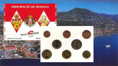 Изображение Подарочные монеты Монако Евронабор 2002 года 2002  UNC Представляем Вам наб