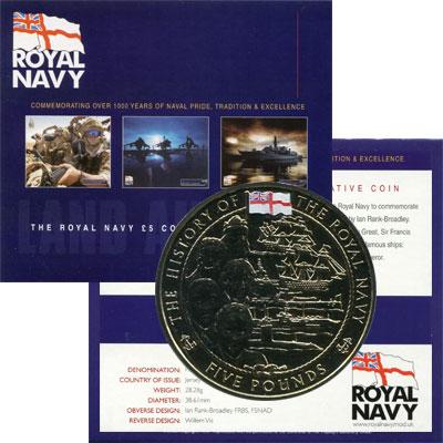 Изображение Подарочные монеты Остров Джерси 5 фунтов 2003  UNC Подарочная монета по