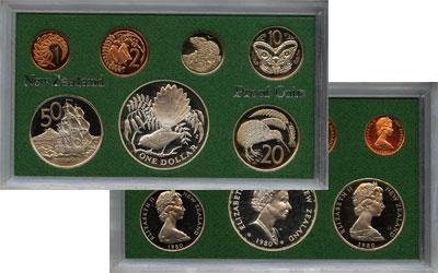 Изображение Подарочные монеты Новая Зеландия Выпуск 1980 года 1980  Proof Подарочный набор 198