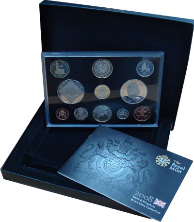 Изображение Подарочные монеты Великобритания Новые гербы 2008 2008  Proof Подарочный набор сос