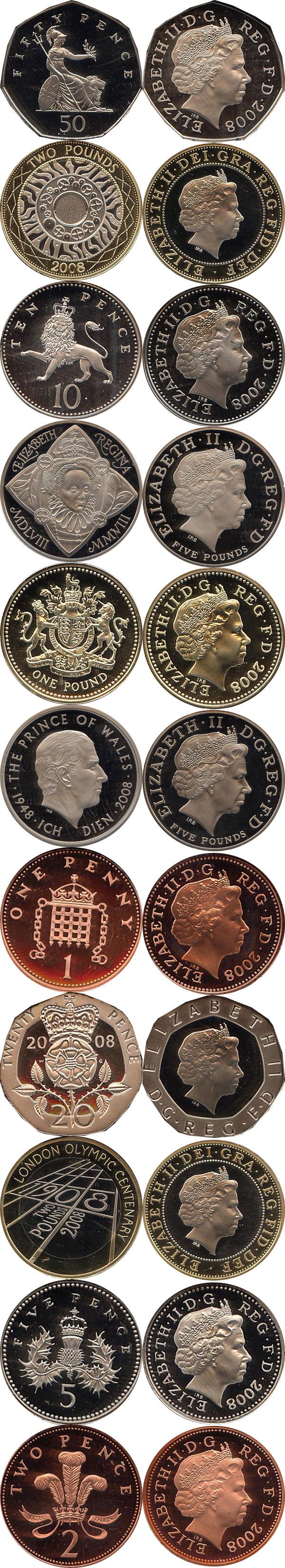 Картинка Подарочные наборы Великобритания Новые гербы 2008  2008