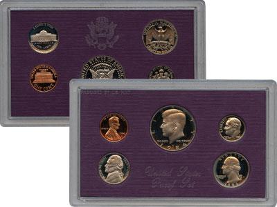 Изображение Подарочные наборы США Выпуск 86 года 1987  Proof Набор 1987 года выпу