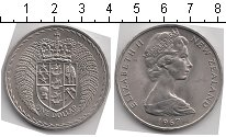 Изображение Мелочь Новая Зеландия 1 доллар 1967 Медно-никель UNC- Елизавета II. KM# 38