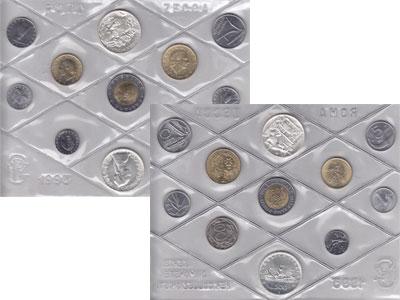 Изображение Подарочные монеты Италия Выпуск монет 1993 года 1993  UNC Представляем Вам вып