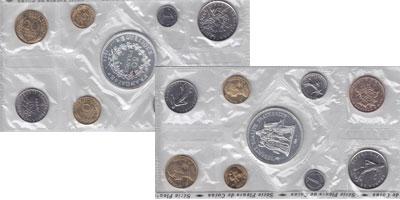 Изображение Подарочные наборы Франция Выпуск монет 1974 года 1974  UNC Набор посвящён выпус