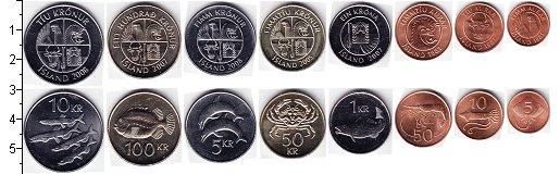 Изображение Наборы монет Исландия Исландия 1981-2008 0  UNC-