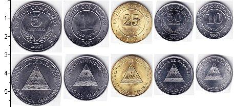 Изображение Наборы монет Никарагуа Никарагуа 2002-2007 2007  UNC- В наборе 5 монет ном