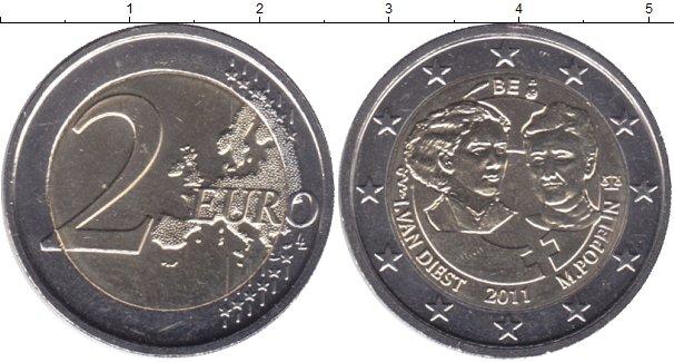 Картинка Мелочь Бельгия 2 евро Биметалл 2011
