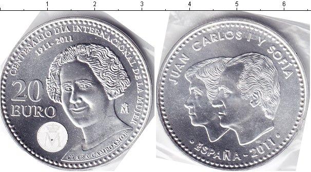Картинка Мелочь Испания 20 евро Серебро 2011