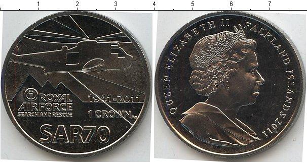 Картинка Мелочь Фолклендские острова 1 крона Медно-никель 2011