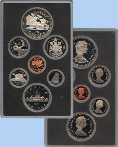 Изображение Подарочные монеты Канада Памятный набор 1981 года 1981  Proof В наборе 7 монет Кан