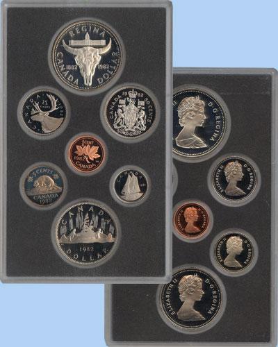 Изображение Подарочные монеты Канада Памятный набор 1982 года 1982  Proof В наборе 7 монет Кан