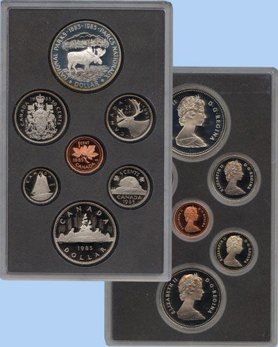 Набор монет Канада Памятный набор 1985 года 1985 Proof