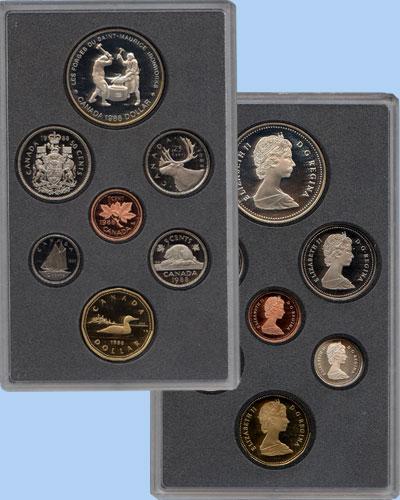 Изображение Подарочные монеты Канада Памятный набор 1988 года 1988  Proof-