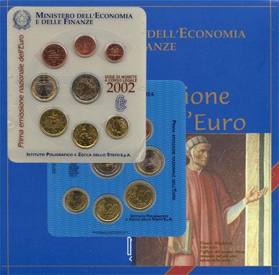 Изображение Подарочные наборы Италия Евронабор 2002 2002  UNC Подарочный набор пос