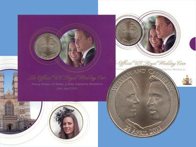 Изображение Подарочные монеты Великобритания 5 фунтов 2011 Медно-никель UNC Подарочный набор пос