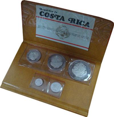 Изображение Подарочные монеты Коста-Рика Выпуск монет 1970 1970 Серебро Proof- `Подарочный набор 19