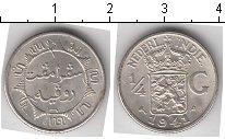 Изображение Мелочь Нидерландская Индия 1/4 гульдена 1941 Серебро UNC- <BR>.&nbsp;