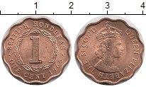 Изображение Мелочь Гондурас 1 цент 1964 Медь UNC- Британская колония.