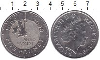 Изображение Мелочь Великобритания 5 фунтов 1999 Медно-никель UNC- Миллениум