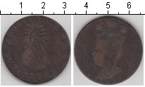 Изображение Монеты Барбадос 1 пенни 1788 Медь VF