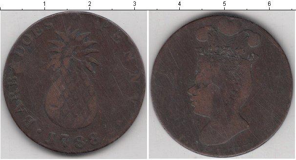 Картинка Монеты Барбадос 1 пенни Медь 1788