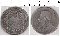 Изображение Монеты Южная Африка 2 шиллинга 1895 Серебро VF Президент Пауль Крюг