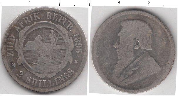 Картинка Монеты Южная Африка 2 шиллинга Серебро 1895