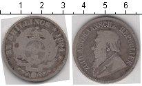Изображение Монеты Южная Африка 2 1/2 шиллинга 1894 Серебро VF Президент Пауль Крюг