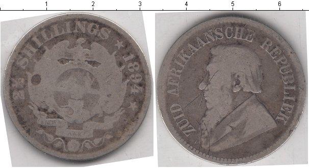 Картинка Монеты ЮАР 2 1/2 шиллинга Серебро 1894