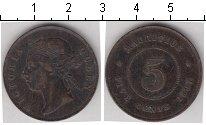 Изображение Монеты Маврикий 5 центов 1897 Медь  Виктория