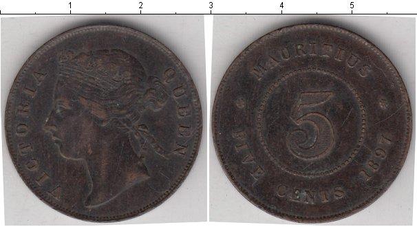 Картинка Монеты Маврикий 5 центов Медь 1897