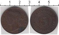 Изображение Монеты Маврикий 5 центов 1883 Медь  Виктория
