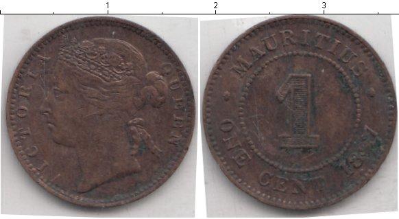 Картинка Монеты Маврикий 1 цент Медь 1877