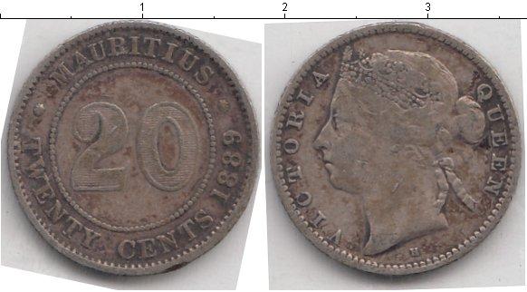 Картинка Монеты Маврикий 20 центов Серебро 1889