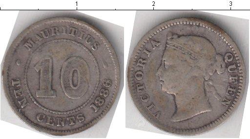 Картинка Монеты Маврикий 10 центов Серебро 1886