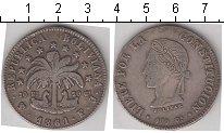Изображение Монеты Боливия 8 солей 1861 Серебро VF Боливар