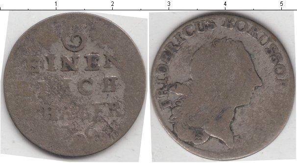 Картинка Монеты Пруссия 1/6 талера Серебро 0