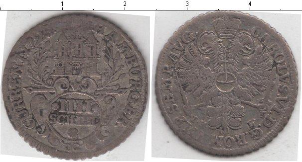 Картинка Монеты Гамбург 4 шиллинга Серебро 1725