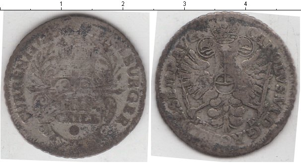 Картинка Монеты Гамбург 4 шиллинга Серебро 0