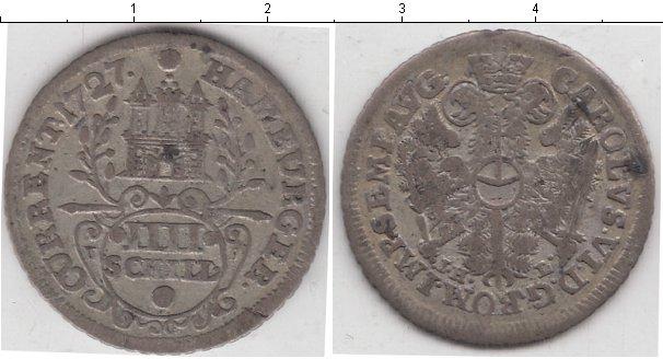 Картинка Монеты Гамбург 4 шиллинга Серебро 1727